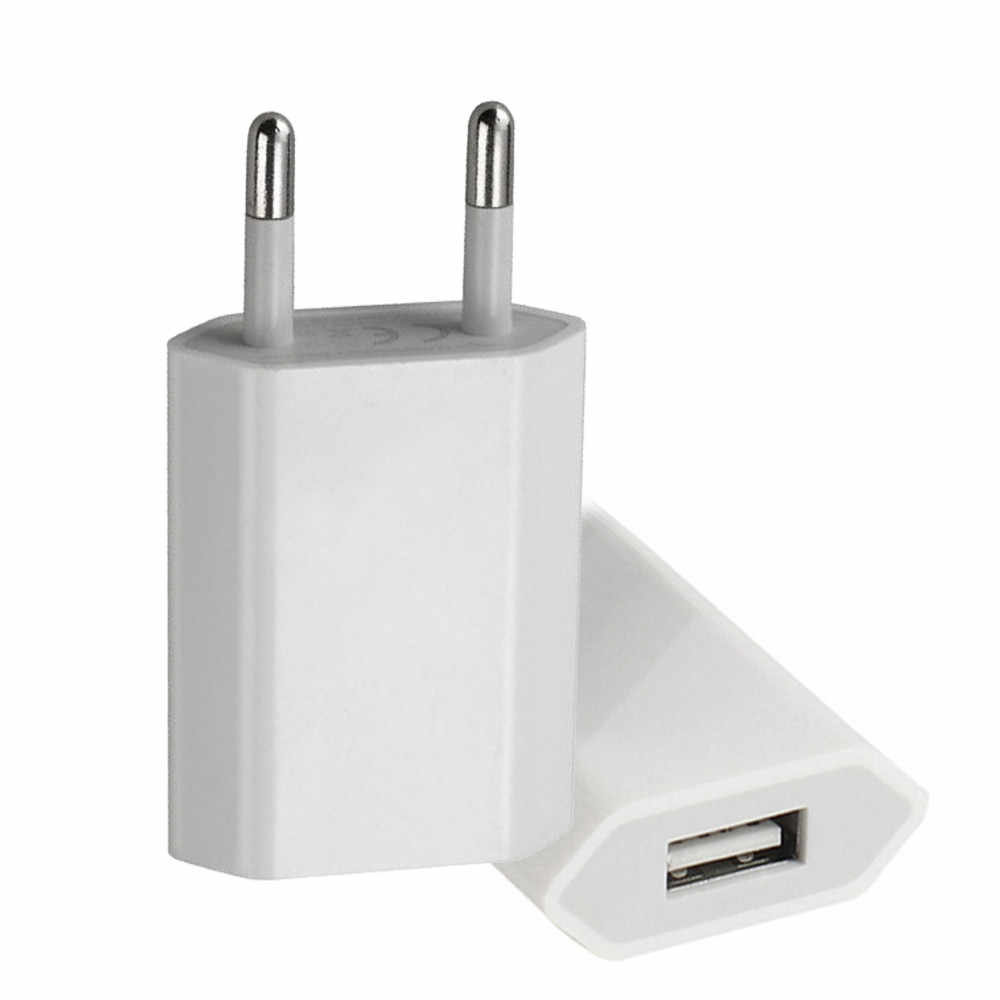 Heißer Verkauf Hohe Qualität Europäischen Eu-stecker USB AC Travel Wand Lade Ladegerät Power Adapter Für Apple iPhone 6 6S 5 5S 4 4S # es