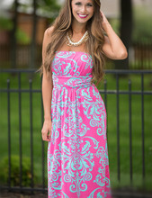2016 Summer Women Long Beach Dress Bohemian Sleeveless Floral Printed Sexy Strapless Boho Maxi Dress Sexy Empire Dress Vestidos