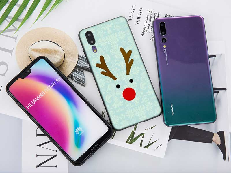 Black Soft Silicone Phone Case New Year Gifts Christmas For Huawei Honor Nova 3I P20 7A Pro P Smart P10 P9 10 9 Lite 2017