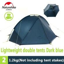 Naturehike 1 et 2 personnes en silicone Ultra-Léger 3 Saison double couche Imperméable de Camping Tente aluminium pôle facile transporter en plein air tente