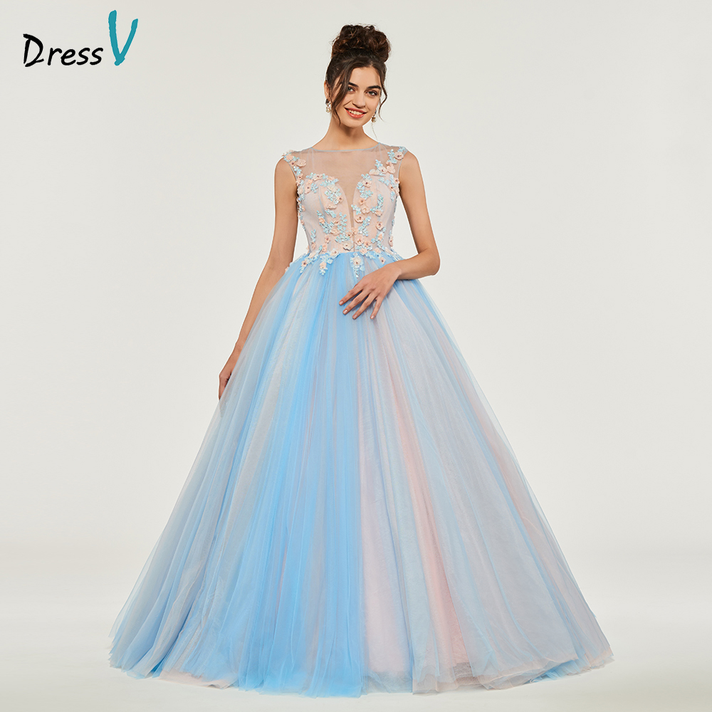 Dressv Ball Gown Puffy Quinceanera Dresses Button Princess Sleeveless Appliques Sweet 16 Dress Vestidos De Debutante 15 Anos