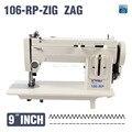 106-RP-Z brazo 9 pulgadas de piel, cuero, cayó espesar ropa de la máquina de coser, función inversa stich y ZIG ZAG, 220 V para la versión larga