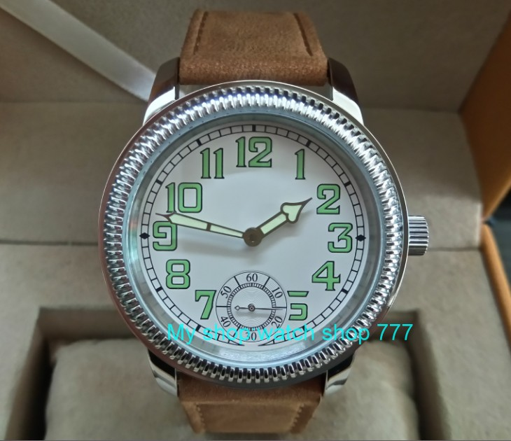 44mm PARNIS Asian ST3621/6498 Mechanical Hand Wind movement Mechanical watches Luminous white dial men's watches sdgd175a 44mm parnis white dial asian 6498 3621 mechanical hand wind movement men s watch mechanical watches rnm9