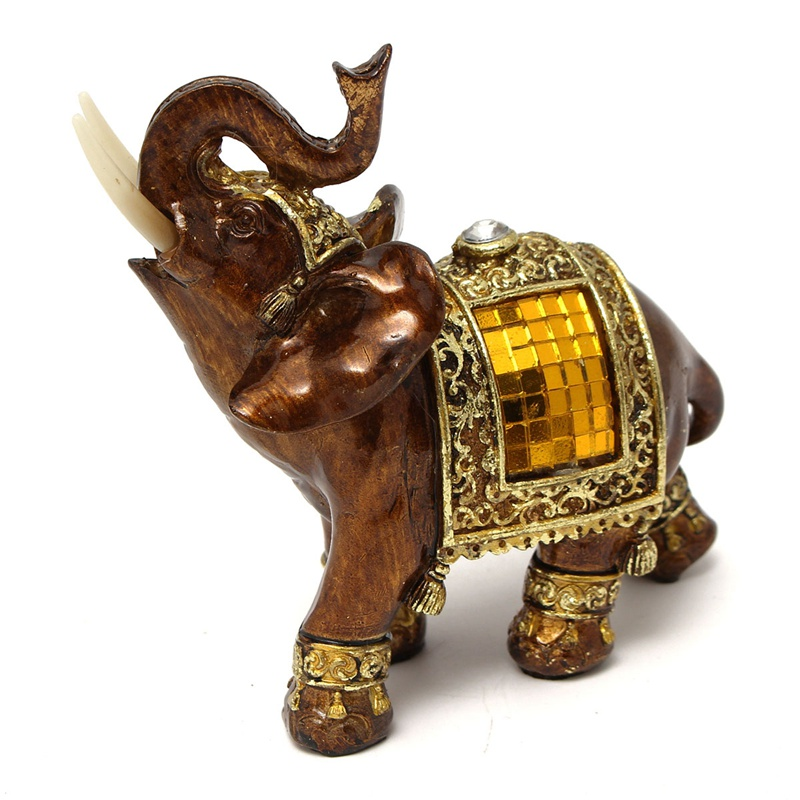 buy elephant figurine elephant statue resin garden figures for the garden. Black Bedroom Furniture Sets. Home Design Ideas