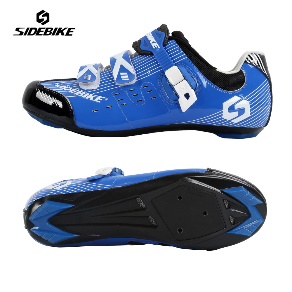 SIDEBIKE Cycling Road Bikes font b Shoes b font Mens Adjustable Lightweight Sapatilha Ciclismo Zapatillas Self