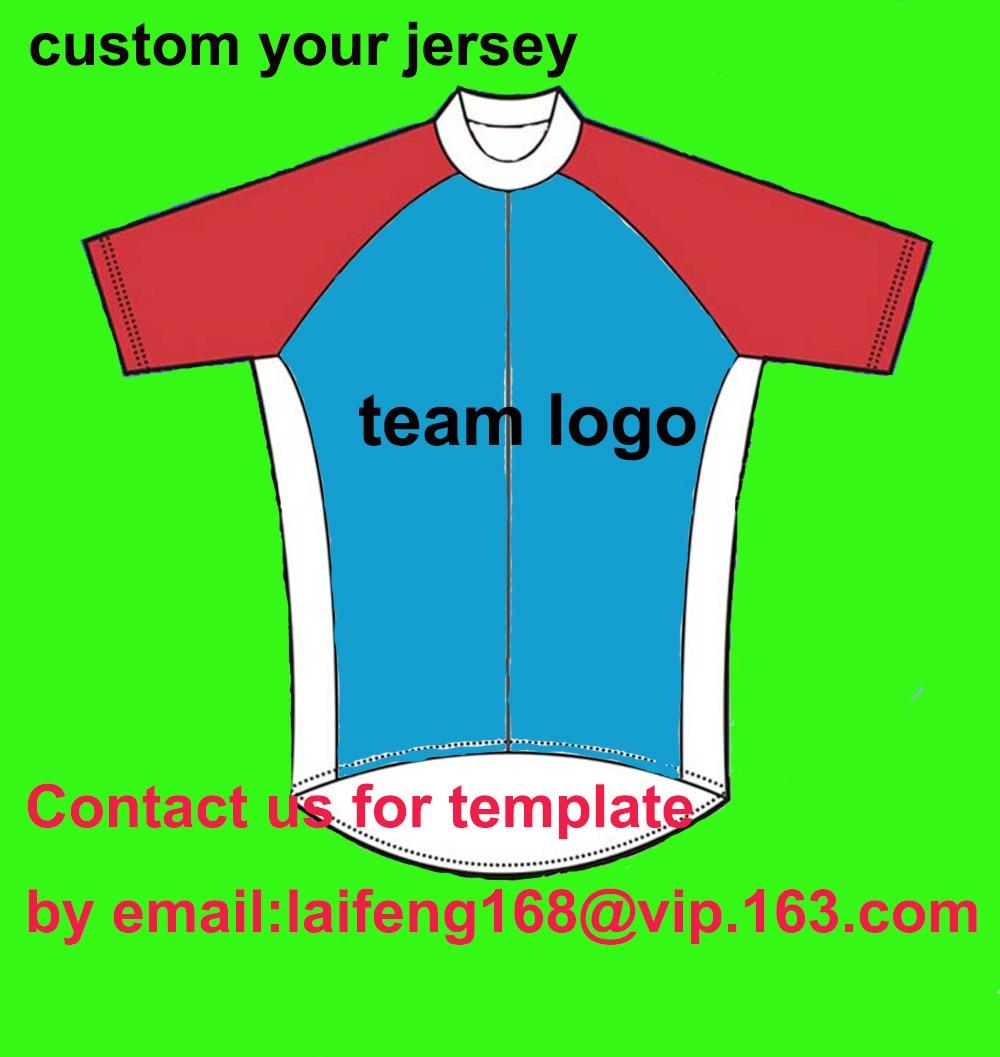 Prix pour 2017 Personnalisé CyclingJersey Vous Pouvez Choisir N'importe Quelle taille/N'importe Quelle couleur/Des logos Accepter Personnalisés Vélo Clothing, BRICOLAGE votre Propre Usage de Bicyclette
