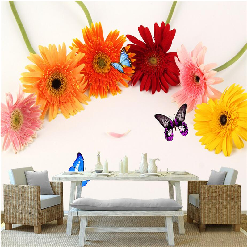 Custom Photo Wall Mural Chrysanthemum Kitchen Cabinet Wallpaper 3d Photos Tv Background Wall Mural Wallpaper Living Room Thicken free shipping hepburn classic black and white photos wallpaper old photos tv background wall mural wallpaper