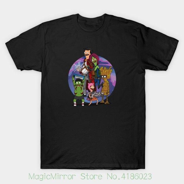 Guardians Of The Burger Mens Black Tshirt Tees Clothing Short Sleeve T-shirt Tops