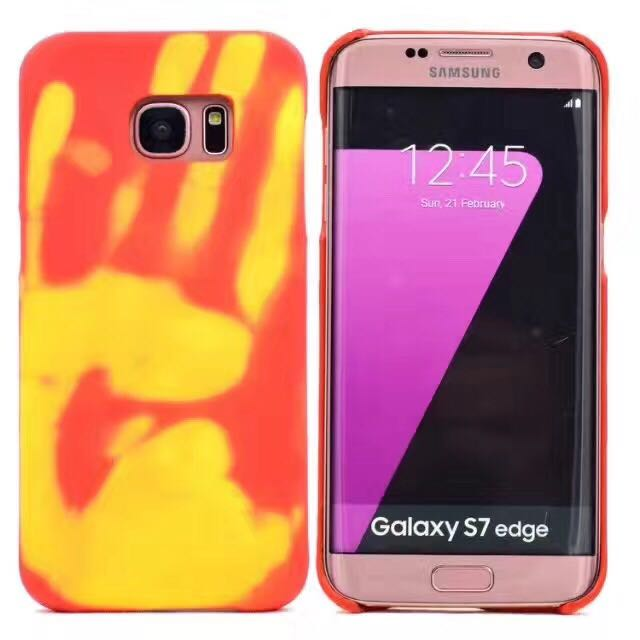 pretty nice ea24e c7c37 US $4.28 5% OFF|New Heat Sensitive Case Thin Soft case Cover HOT  Discoloration Changed Color Thermal Sensor for Samsung S7 /s7 edge /s8  plus-in Fitted ...