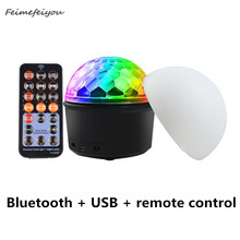 9 Color LED Crystal Magic Ball Light USB Bluetooth Professional Stage Light For DJ Party / Christmas / Wedding Atmosphere Lights