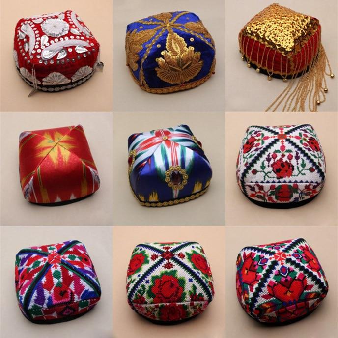 Unisex Adults Cotton Knitting Hats Woman Cap Muslim Islamic Prayer Hat Head Wear Solid Casual Male Leisure Fashionable Islam Hat