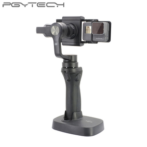 Image 4 - PGYTECH Adapter voor osmo action mobiele zhiyun Gopro Hero 7 6 5 4 3 + xiaoyi 4 K glad Q accessoire schakelaar mount plaat Camera
