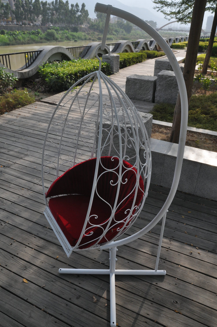 Iron Little Lazy Swing Rocking Chair Recliner Chair Swing Hanging Chair  Indoor And Outdoor Leisure Chair Spider Iron Park Chairs In Patio Swings  From ...