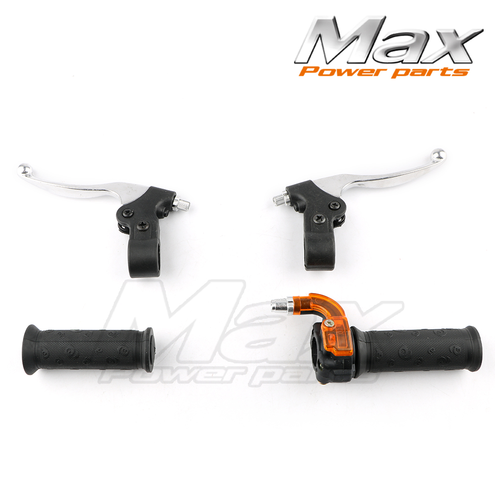 Throttle Hand Grips + Brake Levers + Throttle Housing Set For Goped Gas Scooter 43CC 47CC 49CC Minimoto Bicycle Parts