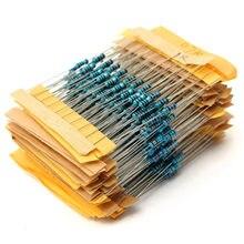 New 500pcs 50 values 1/4W 0.25W 1% Metal Film Resistor Assortment Kit Set Free Shipping
