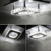 Ceiling Lights Indoor Crystal Lighting LED Modern LED Ceiling Lamp Fixtures Decor For Living Dining Bed Room Home