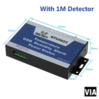 RTU5023 1M Detector Free Shipping GSM SMS Power Monitor Alarm System Temperature Humidity Alarm