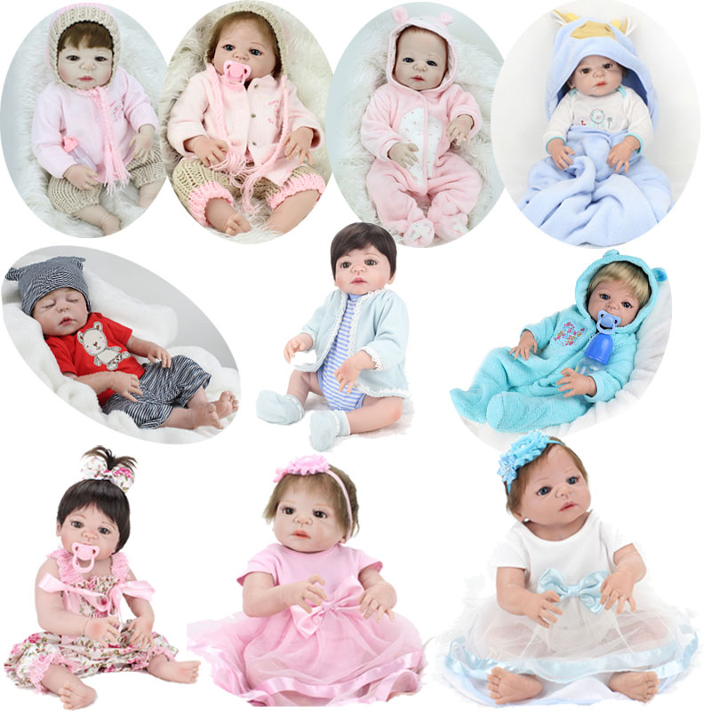 24 styles 55cm Reborn Babies Full Body Silicone Doll Reborn Brinquedos Play House Toy for Child Birthday Gift full house