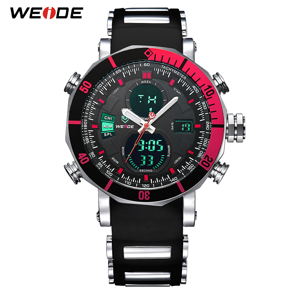 WEIDE Relogio Masculino Luxury Brand Analog Sports Wristwatch Display Date Men's Quartz Watch Business Watch Men Watch Clock