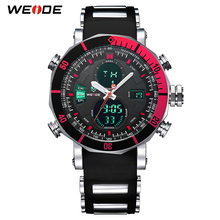 WEIDE Top Brand Watch Men Sports Series Luxury Logo Multi-functional Analog Quartz Digital Alarm Stopwatch Big Clock For Man weide luxury brand analog digital alarm stopwatch black red dual men sport watch quartz wrist watch military men clock relogio