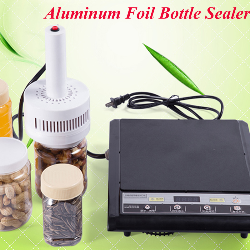 Electromagnetic Induction Sealing Machine 220V Cap Sealer Aluminum Foil Bottle Sealing Machine (Seal Size:20-100mm) DL-500 automatic foil film induction machine with rejector online air cooling foil bottle sealer aluminum film sealing machinery