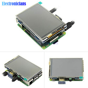 Image 4 - 3.5 inç fiziksel çözünürlük 480x320 LCD ekran modülü LCD HDMI USB dokunmatik ekran gerçek HD 1920x1080 ahududu 3 Model B