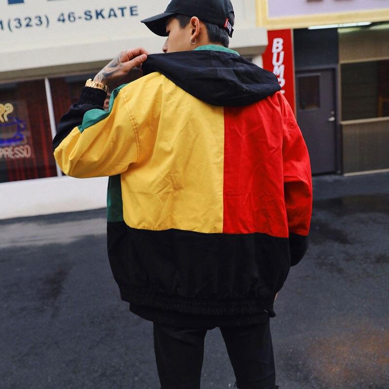 Vintage Color Block Patchwork Jackets 3