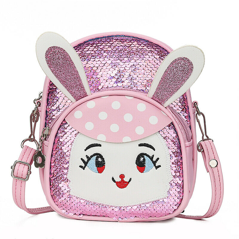 Cute Baby Sequins School Bag Cartoon Animal Bunny Girl Backpack Fashion Flash Mini Shoulder Bag