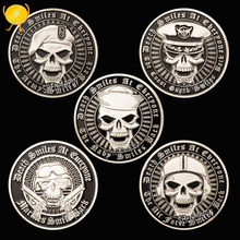 US Department of State Coast Guard Marine Corps The Navy Air Force Commemorative Coin Warrior Skull Head Honor Coins Collection