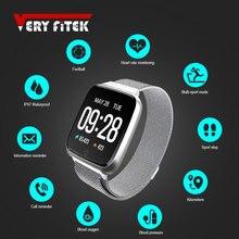 VERYFiTEK reloj inteligente Y7 para hombre y mujer, monitor, seguidor Fitness con control del ritmo cardíaco y de la presión sanguínea, resistente al agua, para Android IOS
