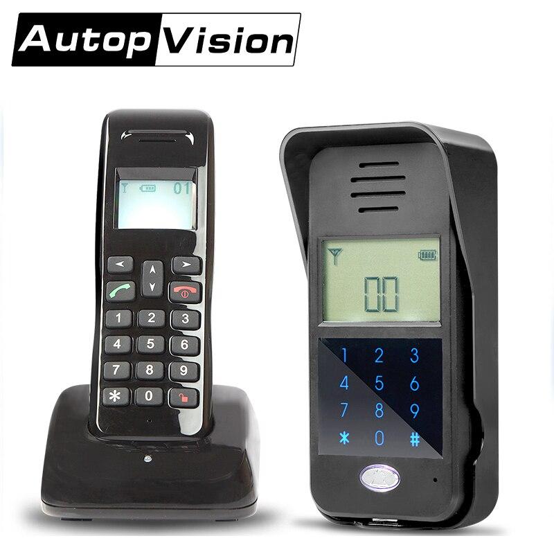 AD01 1 door Intercom Voice door Intercom Full Wireless duplex door Intercom long range Security AT