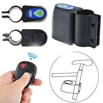 Anti-Theft Bike Lock Cycling Security Lock Wireless Remote Control Vibration Alarm 110dB Bicycle Anti-Theft Alarm Bicycle Access Ποδηλασία Χόμπι MSOW