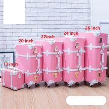 Travel tale для женщин милые тележка Дамская винтажная чемодан набор Ретро прокатки набор багажных чемоданов на колесах