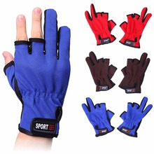 Free Fisher Fishing Gloves Sports Breathable Anti slip Gloves 3 Low Cut Fingers Fishing Accessories Outdoor