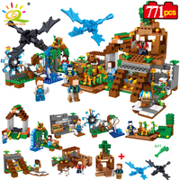 HUIQIBAO TOYS 771pcs 8in1 Minecrafted Manor Estate House My World Model Building Blocks Bricks Set Compatible Legoed City Friend