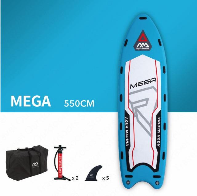 AQUA MARINA MEGA SUP tabla de Surf Tabla de paleta multijugador Bodyboard Stand Up Paddleboard con aletas Sup tabla de Surf 550*152*20 cm