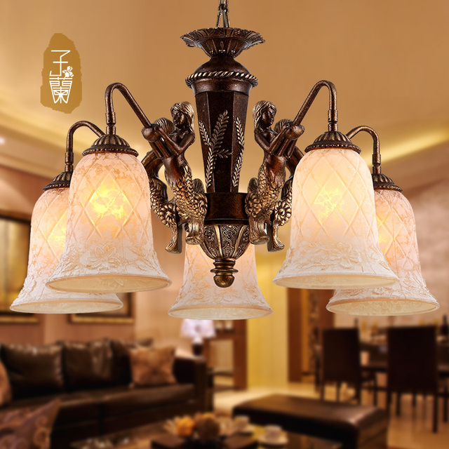 Vanilla Jane Lighting Retro Living Room European Style Dining Table Lamp Chinese Mediterranean Designer