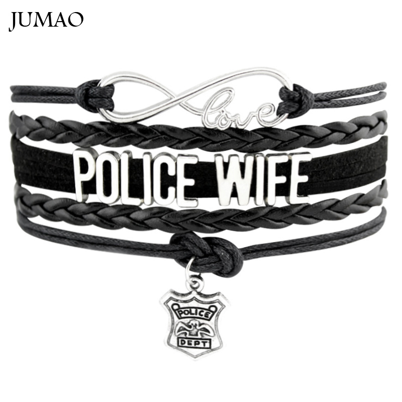 Infinity Love Police Wife Bracelets Police Dept Handcuffs