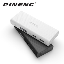 Pineng PowerBank 10000mAh New Version External Battery Portable Mobile Charger Dual USB Port with LED Screen and LED Light
