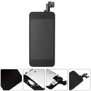 Image 5 - كامل الجمعية شاشة LCD لفون SE شاشة تعمل باللمس محول الأرقام لقطع غيار للشاشة SE فون كاملة زر المنزل