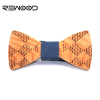 2016 Rewood Fashion Designer High Quality Business Wedding Official Party All Match Wooden Bow Tie For