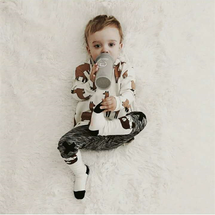 Llama  Relaxed long sleeve Tee+pants for  baby boys girls kids clothing llama llama holiday drama