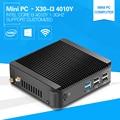 4010Y 1.3 GHz I3 XCY Mini Computador Com CPU de Alta Performance Barato Mini Liga de Alumínio caso Fanless Thin Client 2G Ram 64G SSD