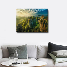 Modern Natural Landscape Sunshine Wall Art Picture Posters Prints Canvas Painting for Living Room Home Decor