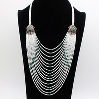 New Arrived Vintage Multi Level Beads Tassel Turkish Necklaces Antique Gold Plating Necklaces Women Wedding Party
