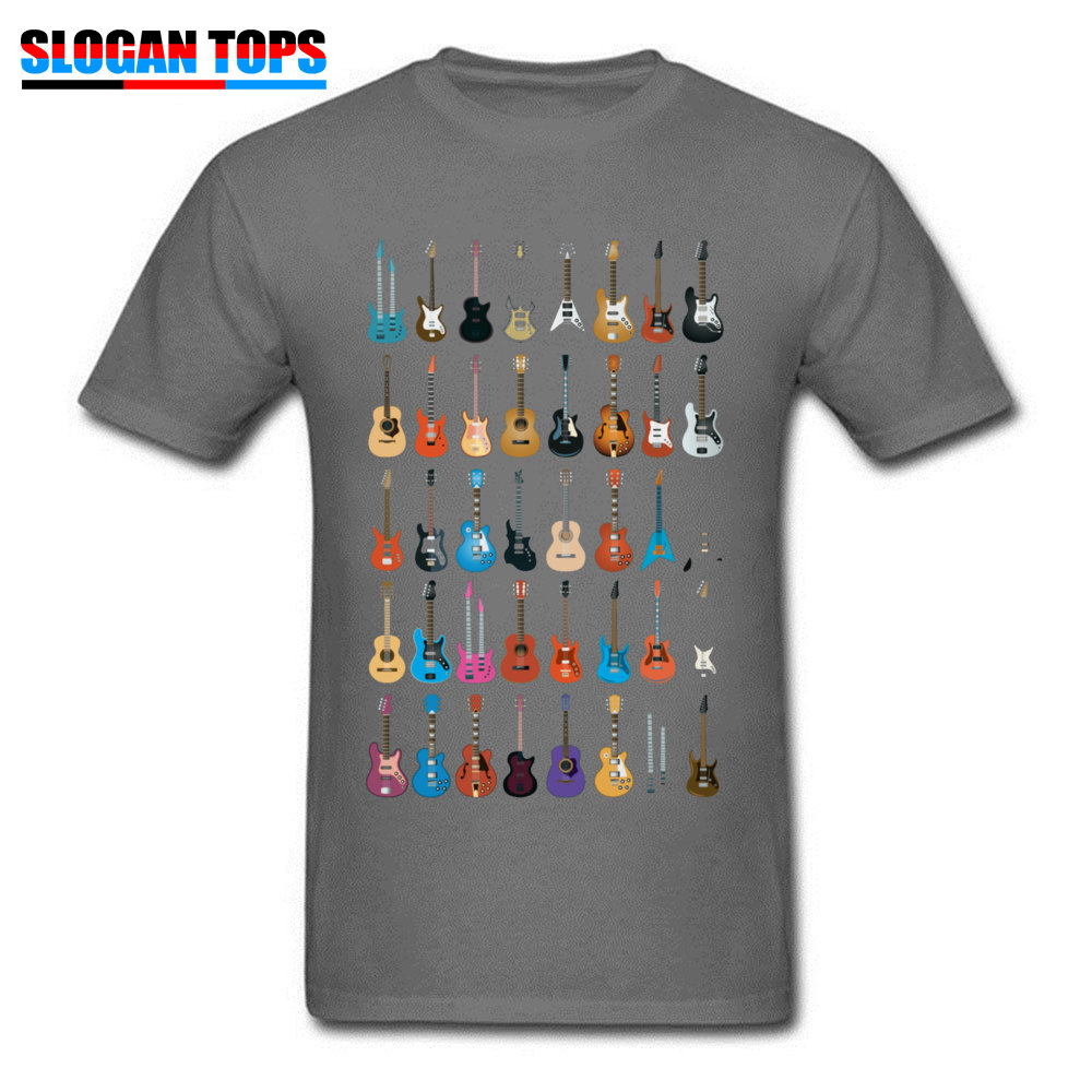 Custom 3D Printed T-shirts 2018 Summer Short Sleeve Round Neck T Shirt Cotton Fabric Men Normal T Shirts Drop Shipping Love Guitar Different Guitars Music Lover Funn carbon