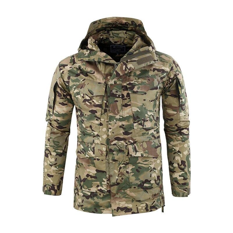 US armée M65 militaire Camouflage manteau hommes tactique à capuche veste hiver coupe-vent