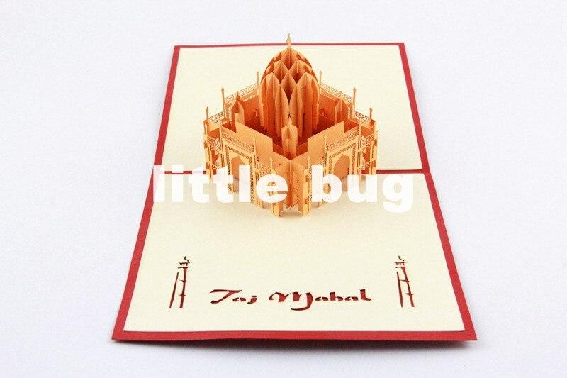 3D Taj Mahal Pop up cards Custom Gift cards Creative Kirigami& Origami Thank cards10pcs/lot Free shipping on Aliexpress.com | Alibaba Group