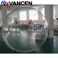 2m PVC transparent inflatable water ball float water balloon zorb ball plastic human hamster inflatable water walking ball