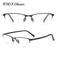 Металлические полуобода овальные очки для мужчин и женщин очки оправа для очков по рецепту линзы близорукости прогрессивное чтение